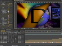 Building a motion graphics in Adobe After Effects.