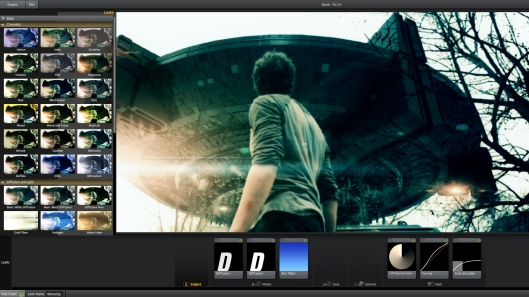 Looks includes about 100 pre-built grades that can be applied to your clips with one click